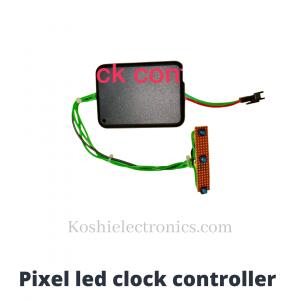 Pixel led clock controller